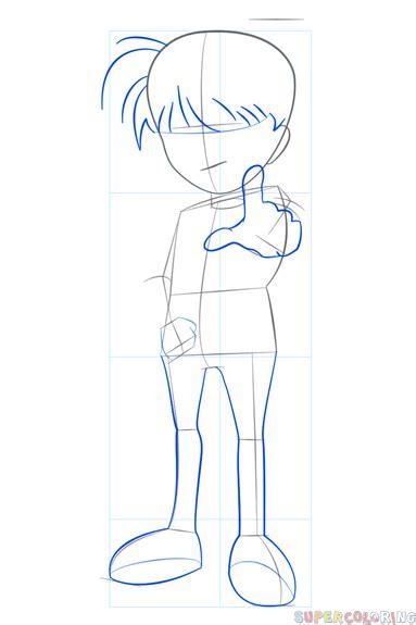 draw detective conan step  step drawing tutorials