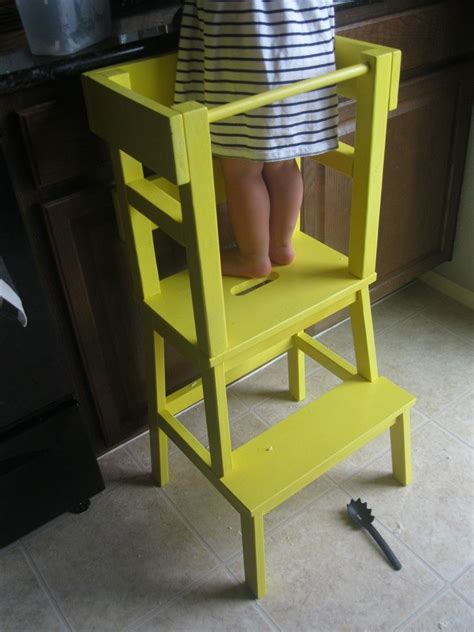 diy learning tower  ikea bekvaem step stool kid stuff