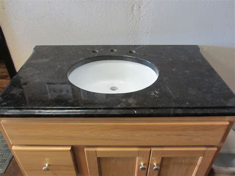 bathroom awesome black granite countertop with cozy lowes