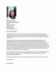 Esthetician Cover Letter Resume Badak