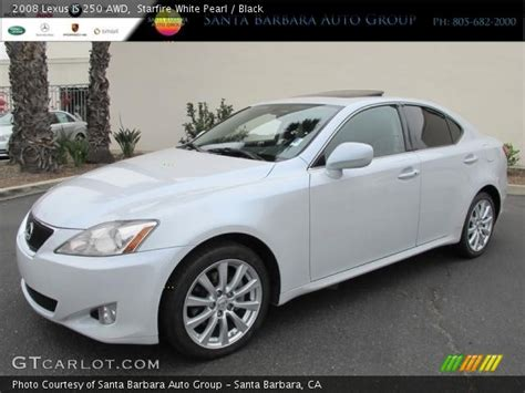 white lexus is 250 2008 starfire white pearl 2008 lexus is 250 awd black