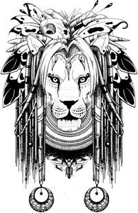 Lion Tattoo Sketches and Drawings