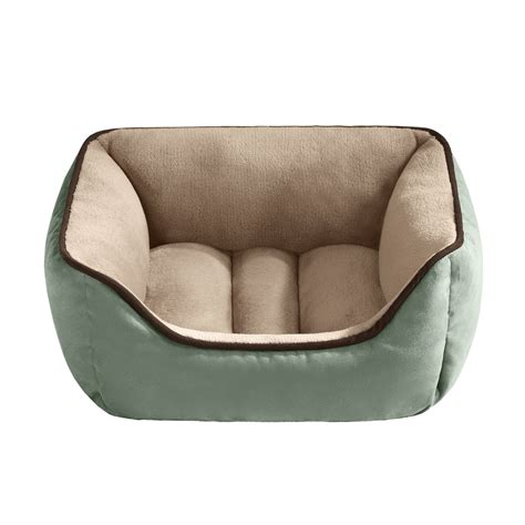 Petco Pet Beds by Halo Reversible Rectangular Cuddler Pet Bed In Celadon Petco