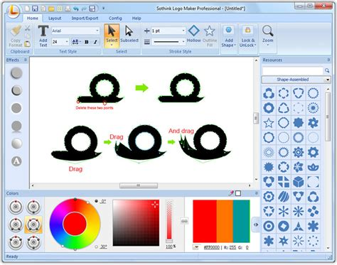 use text to shape for text based logo sothink logo maker pro