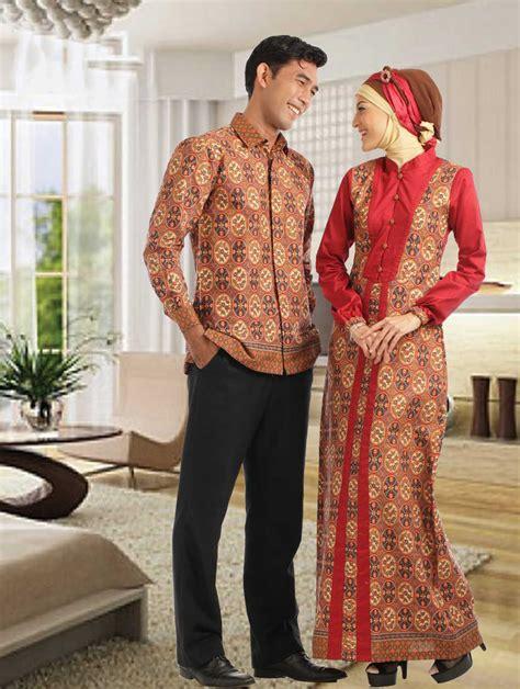 contoh baju muslim batik untuk pria dan wanita