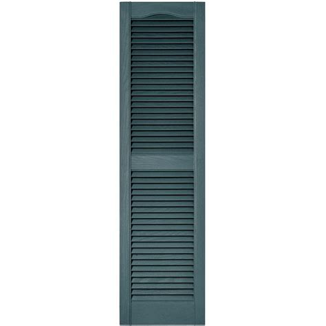 builders edge 15 in x 55 in louvered vinyl exterior