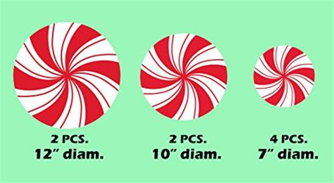 peppermint floor decals stickers  christmas decoration