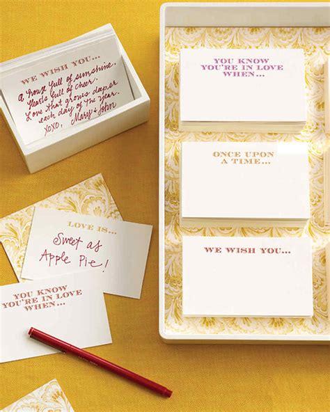 Bridal Shower Guest Book Ideas - conversation starter guestbook martha stewart