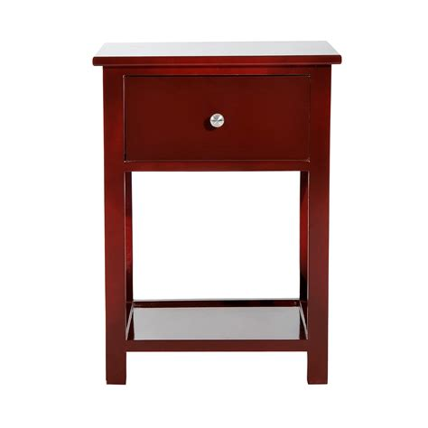 home goods end tables homcom x side wood end table nightstand w drawer