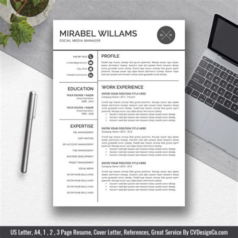 Resumes With Photo by 2019 Best Selling Office Word Resume Cv Templates Cover