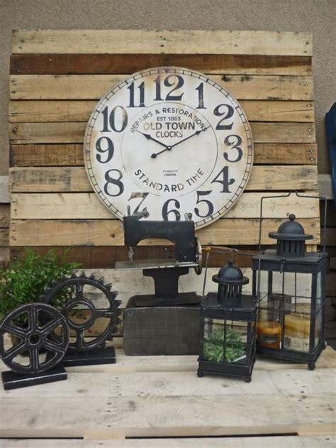 cuisine deco industrielle la grande horloge murale en photos archzine fr