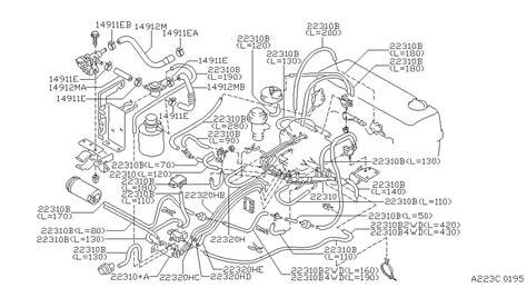 1997 nissan engine diagram automotive parts