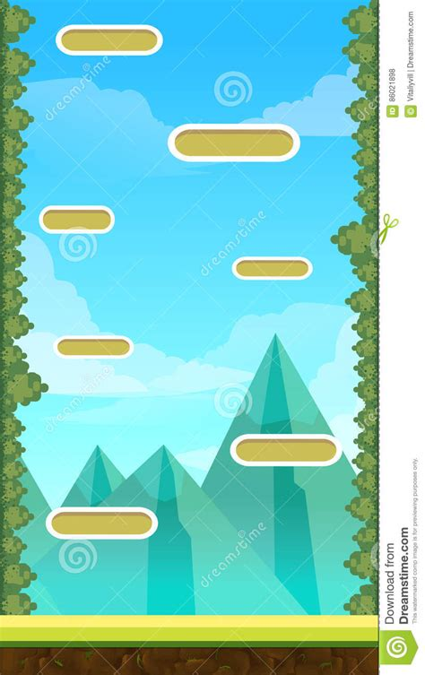 jump game user interface design  tablet stock vector