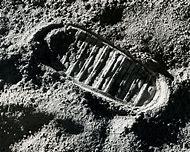Apollo 11 Moon Landing Footprint