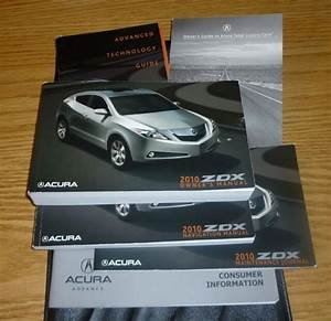 2010 Acura Zdx Owners Manual Set 10 Guide  Case V6 Awd