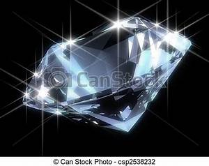 Clip Art of shiny diamond - 3d rendered illustration of a ...