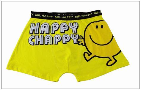 Mr Happy Disney Mens Cartoon Character Boxer Shorts
