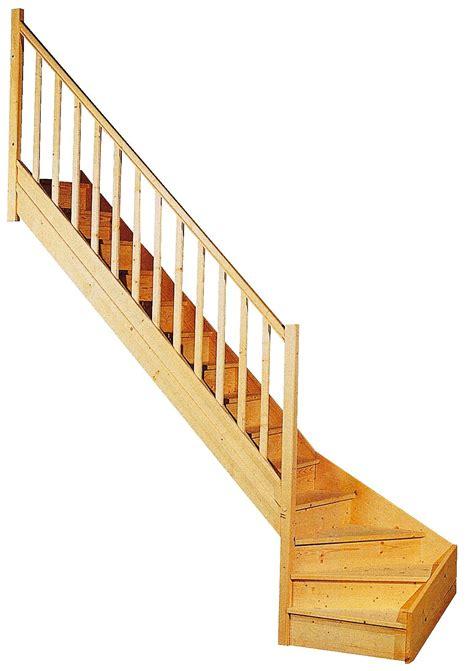 escalier 1 4 tournant gauche sap massif escalier