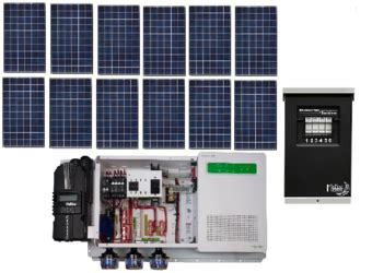 grid kw residential solar power system alte