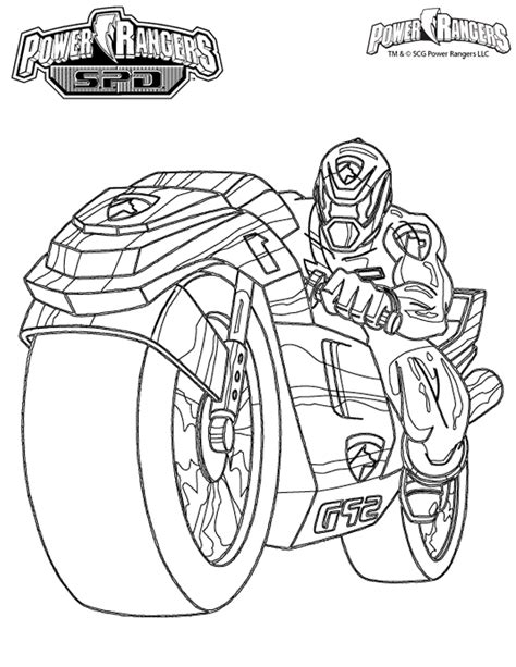dessins de coloriage power rangers  imprimer gratuit