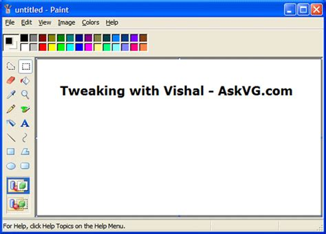 Best Free Paint Program For Windows 7 Get Windows Vista Look Like Mspaint In Windows Xp Askvg