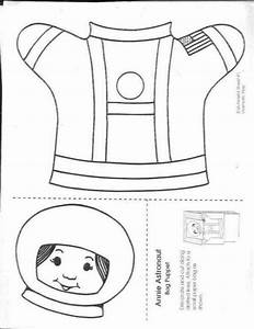 Astronaut templates crafts
