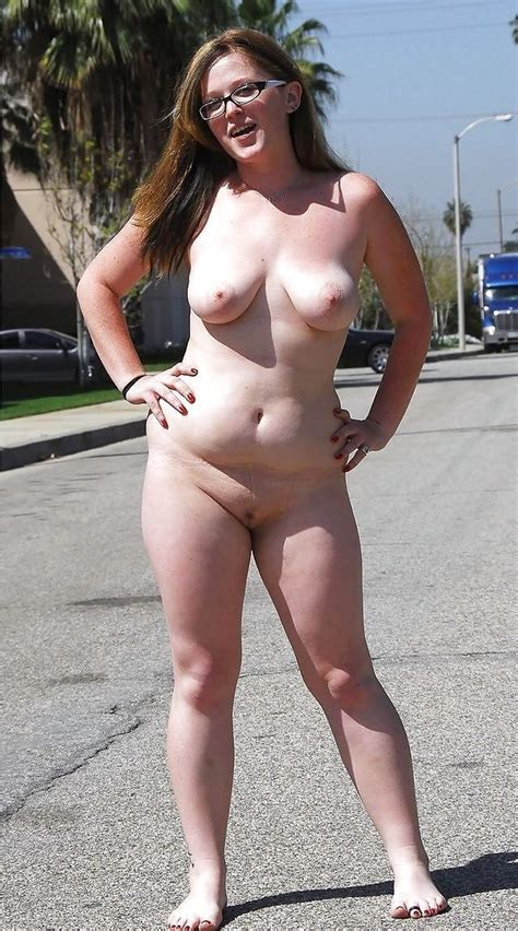 Brave Chubby Girl Goes Totally Nude On A Busy Street Porn Pic