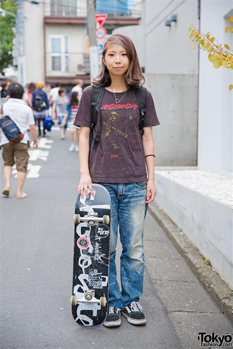 harajuku skater girl   birthday tee undercover vans tnt sneakers