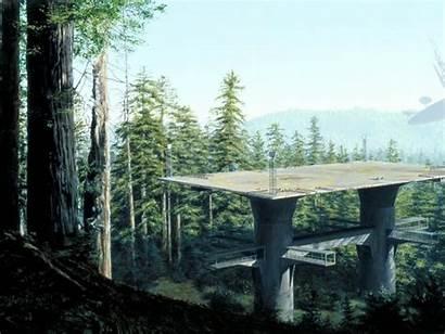Wars Endor Forest Fiction Artwork Science Painting