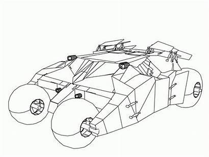 Coloring Batmobile Tumbler