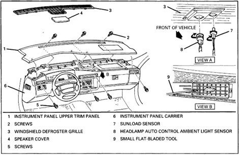 1996 Cadillac Concour Engine Diagram by How Do You Remove A Dash Board From A 1996 Cadillac
