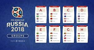 Russia 2018 World Cup groups - Vector download
