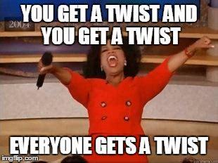What A Twist Meme - spoilers allison grodner this season imgflip