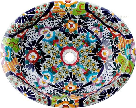 mexican hand painted sinks mexican hand painted talavera oval bathroom sink
