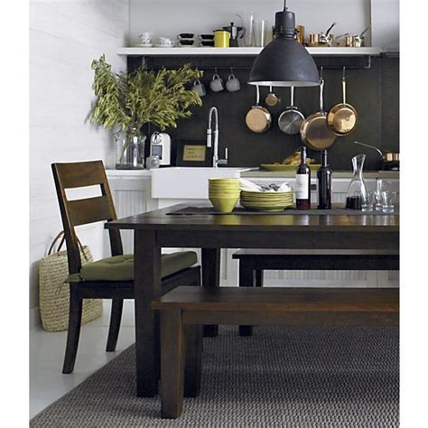 basque honey 65 quot dining table crate and barrel dining