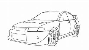 mitsubishi evo 6 drawing on after effects youtube With 2013 car undercarriage display youtube