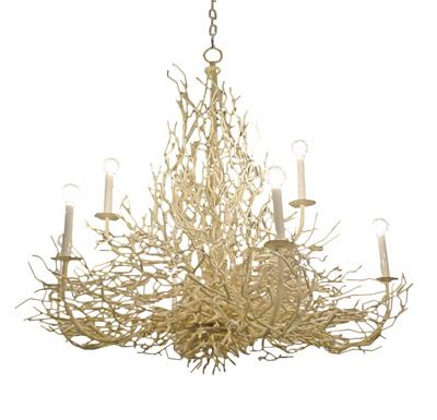 Coral Chandelier by Simple Made Sassy Coastal Chandeliers