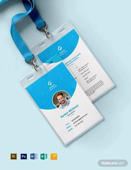 excel templates employee id card sample