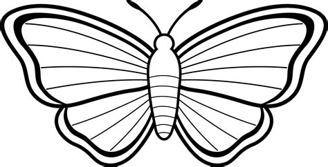 simple butterfly coloring pages getcoloringpagescom