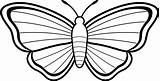 Butterfly Coloring Printable Butterflies Drawings Clip Clipart Outline Line sketch template