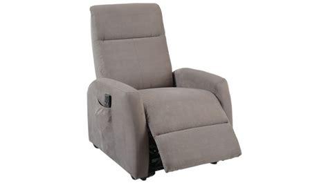 fauteuil gris pas cher fauteuil d 233 tente 233 lectrique fonction releveur en microfibre grise pas cher