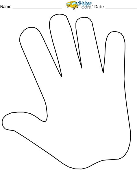 handprint outline clipart  clipground