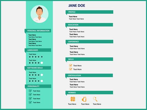 20881 powerpoint resume template professional resume powerpoint template sketchbubble