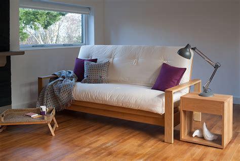 Sofa Bed Company 2 Seater Solid Oak Comfort Double Sofa