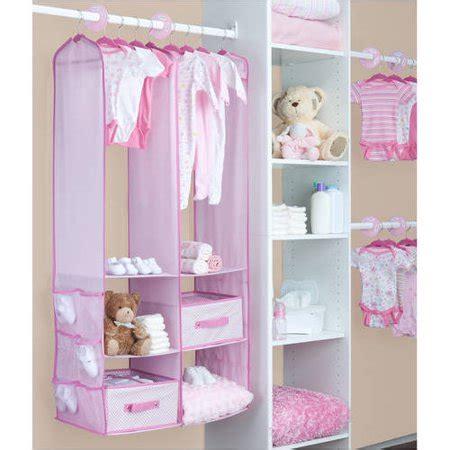 Walmart Baby Closet Organizer by Delta Children 24 Nursery Storage Set Barely Pink
