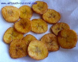 aftouch cuisine chips de bananes plantain recette aftouch cuisine
