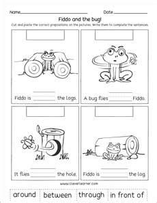 preposition printables  preschools  kindergartens