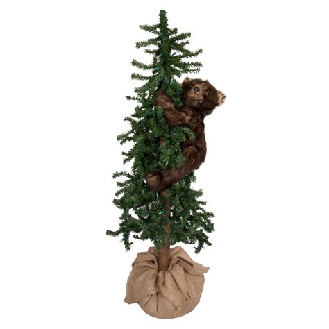 ditz designs lighted alpine tree bear  grizzly bear