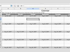 Calc Calendar Template Basic — Guide 2 Office
