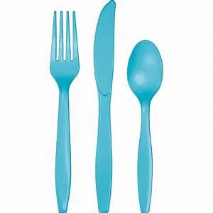 Utensils Assorted Plastic Cutlery Bermuda Blue - Baxter